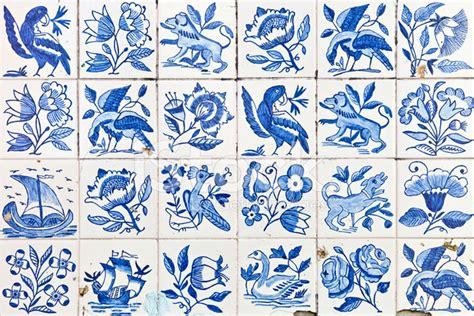 floor tile and decor ornamental portuguese tiles azulejos stock photos