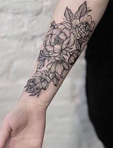 Tattoo Avant Bras : 1001 versions fantastiques du tatouage pivoine ~ Melissatoandfro.com Idées de Décoration
