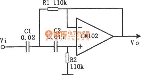 The Circuit Diagram Active High Pass Filter