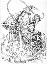 Ghost Rider Coloring Printable Adults sketch template