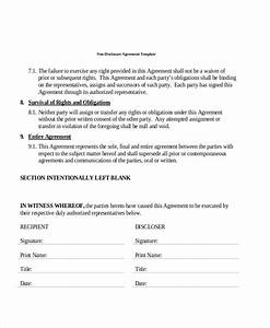 Simple Nda Free 8 Sample Non Disclosure Agreement Forms In Pdf Ms Word