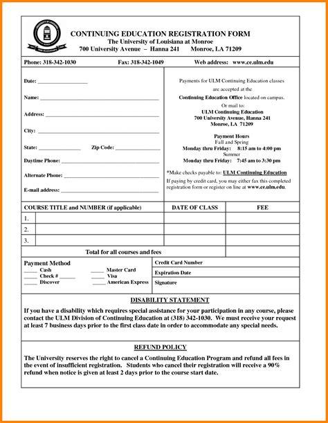 registration form format pdf 7 students registration form simple format new tech