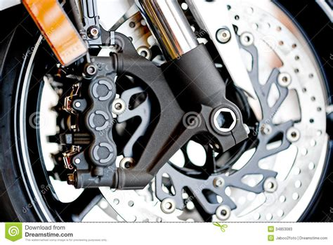 Closeup Detail Of A Motorcycle Stock Image