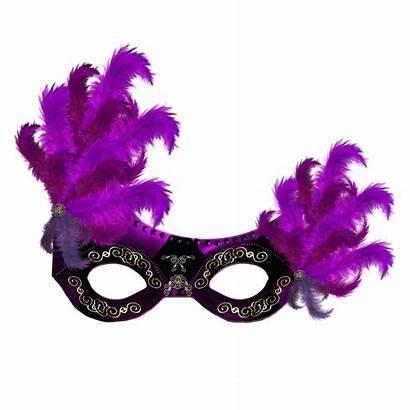 Mask Carnival Transparent Purple Clipart Clip Feathers