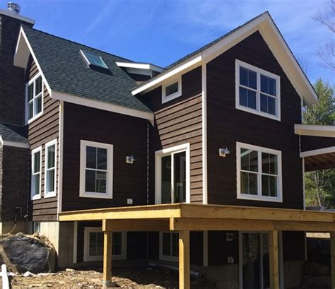 cordovan brown solid stain siding home