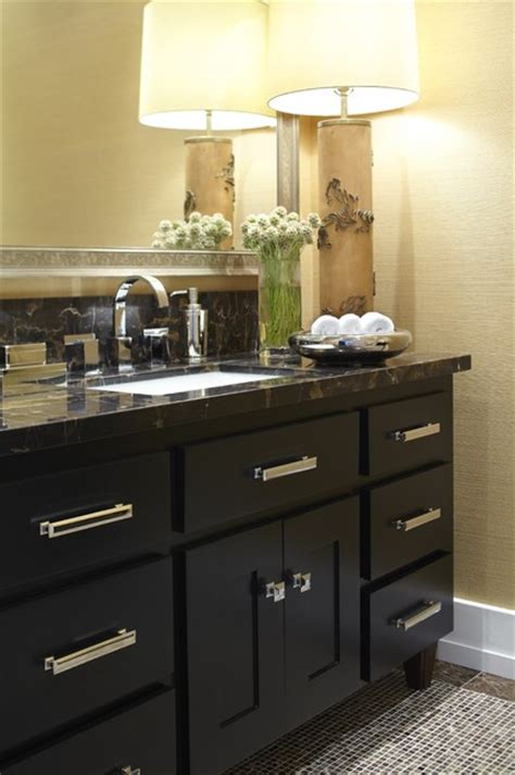 Houzz Bathroom Vanity Knobs by Mill Valley Ca Transitional Powder Room Other Metro