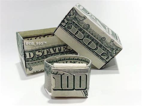 gift box money origami dollar bill cash sculptors bank