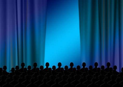 illustration person men theater curtain