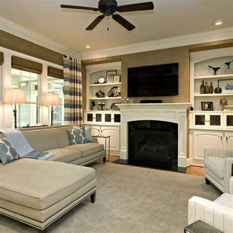 Living Room With Fireplace And Bookshelves by White Bookshelves With Bead Board Backing Clean Simple
