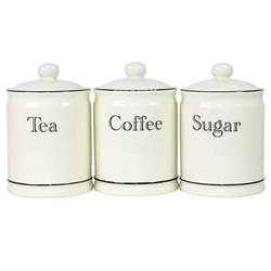 ceramic tea coffee sugar canisters kitchen storage - Kitchen Canisters Canada