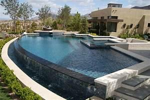 Piscine Avec Cascade : 1001 conceptions cr atives pour une piscine sur lev e ~ Premium-room.com Idées de Décoration