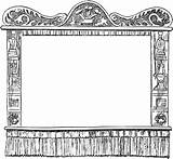 Stage Puppet Theater Shadow Clipart Clip Coloring Empty Pages Puppets Theatre Template Border Movie Curtain State Cardboard Paper Templates Making sketch template