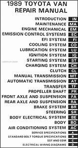 1989 Toyota Van Repair Shop Manual Original