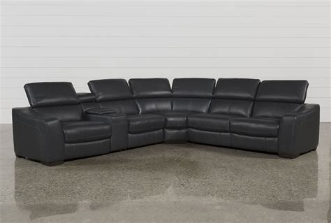 grey reclining sectional kristen slate grey 6 power reclining sectional