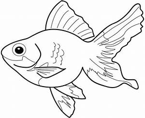 Goldfish Clipart Black And White Hd | Letters