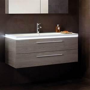 Meuble Vasque Bois Salle De Bain : meuble salle de bain double tiroirs meuble salle de bain ~ Teatrodelosmanantiales.com Idées de Décoration
