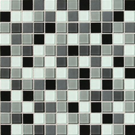 daltile pewter blend glass mosaic wall tile 1x1