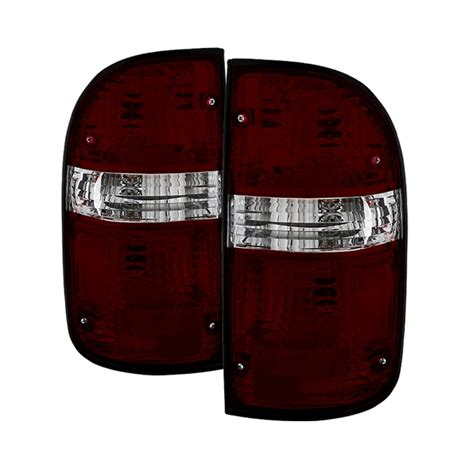 04 tacoma tail lights 01 04 toyota tacoma oem style tail lights red smoked