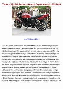 Yamaha Xjr1200 Factory Owners Repair Manual 1 By Tashia
