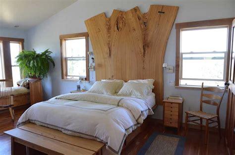 reclaimed slab wood  bed     sleep