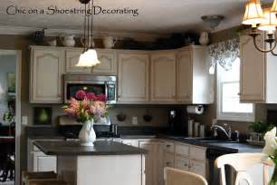 kitchen cabinets decorating ideas chic on a shoestring decorating my kitchen