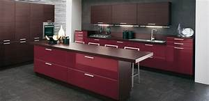 burgundy brown kitchen interior design ideas With kitchen cabinet trends 2018 combined with vynal wall art
