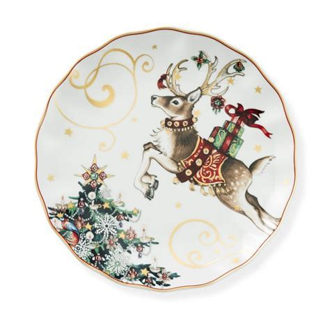 Twas the Night Before Christmas Dinner Plates, Reindeer