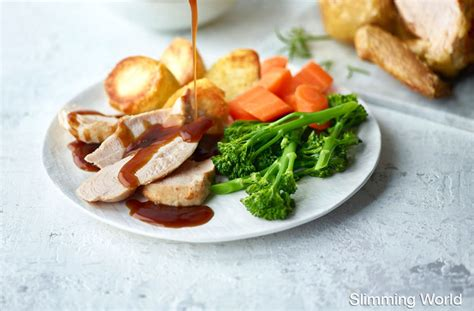 slimming world s roast dinner dinner recipes goodtoknow