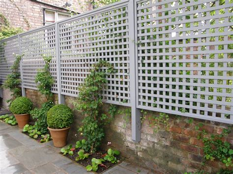 Small Trellis Fence by Creative Uses For Garden Trellises Greenery And