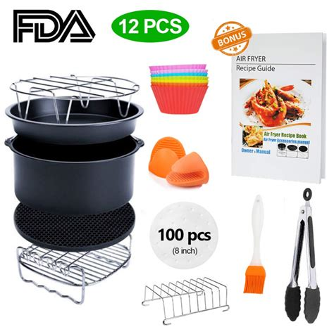 fryer air inch xl accessory recipe 8qt cookbook which piece airfryer walmart simple living kit cozyna 3qt gowise usa digital