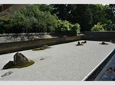 The World Famous Rock Garden Picture of Ryoanji Temple