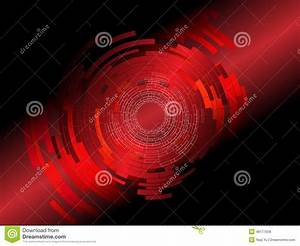 Abstract Tech Red Background Stock Vector - Image: 46177558