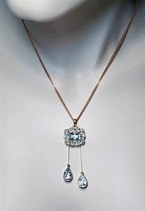 Antique Edwardian Aquamarine Gold Negligee Necklace ...