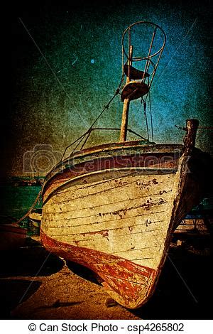 Rock The Boat En Francais by Stock Photo Of Wreck Of Antique Boat In Grunge Style