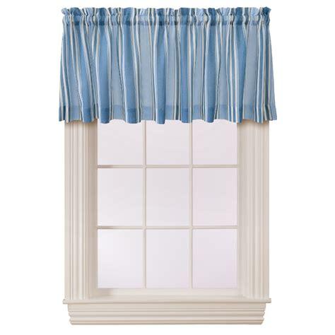 Striped Valances by Essential Home Darnell Stripe Valance Blue