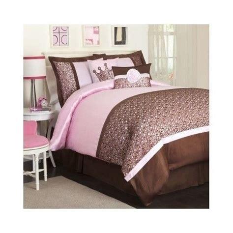 leopard print comforter set 5 piece twin pink brown girls