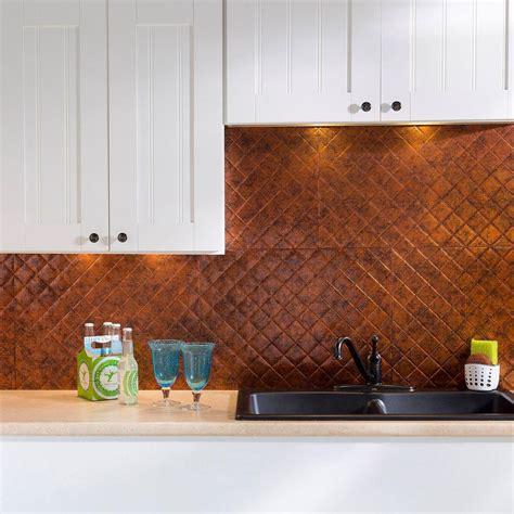 decorative kitchen backsplash fasade 24 in x 18 in quilted pvc decorative backsplash 3122