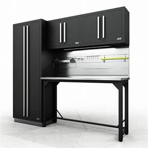 Fusion Pro Cabinets  U2013 5 Piece Work Bench Set  U2013 Proslat Us