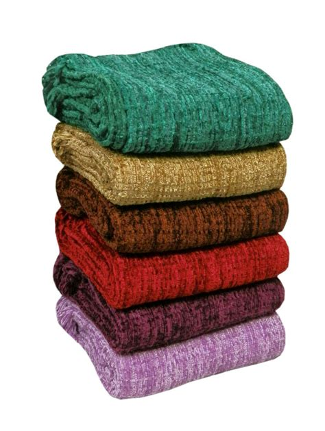 Throws Blankets For Sofas by Large Luxury Chenille Sofa Bed Throw In 6 Colours