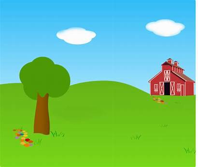 Farm Clipart Background Outside Outdoor Clip Cliparts