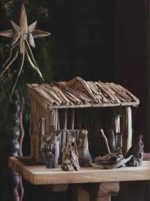 classic wooden manger nativity set christmas decor