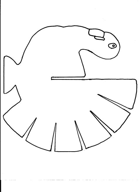 turkey cut out template how to make a wooden turkey decoration allfreeholidaycrafts