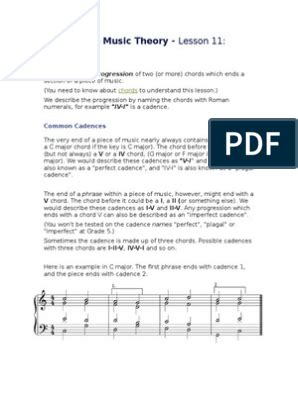 This course of instruction covers the grade 5 abrsm theory syllabus in full. Grade Five Music Theory- Cadences | Music theory, Music theory lessons, Music chords