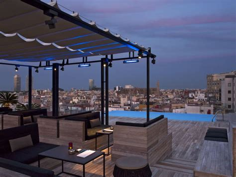h 244 tels de luxe avec piscine roof top 224 barcelone