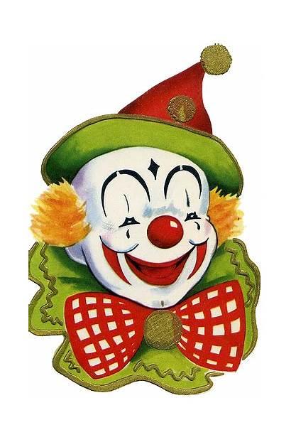 Clown Clowns Circus Face Birthday Clipart Scary