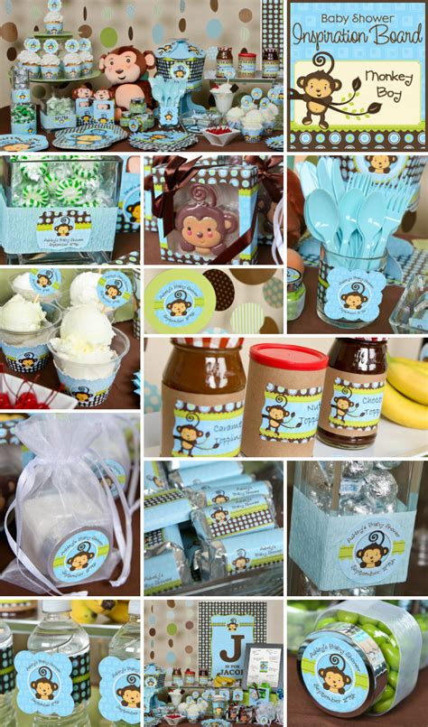 Have Some Fun With Monkey Boy Baby Shower Ideas  Big Dot