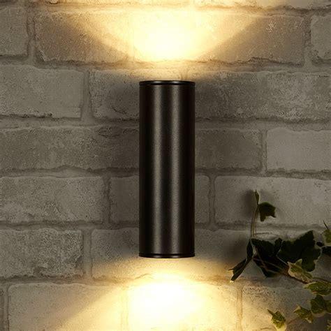 eglo riga outdoor led wall lighting 200mm eglo riga led outdoor up down wall light anthracite lighting direct
