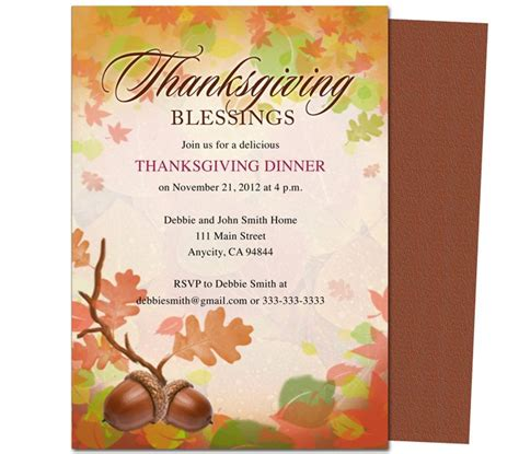thanksgiving invitation template thanksgiving invitation templates