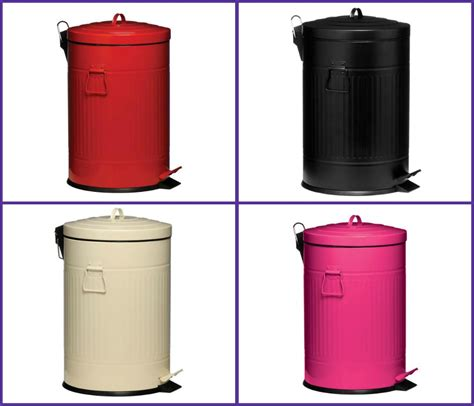 20 Litre Round Kitchen Pedal Dust Bin Trash Can Galvanised