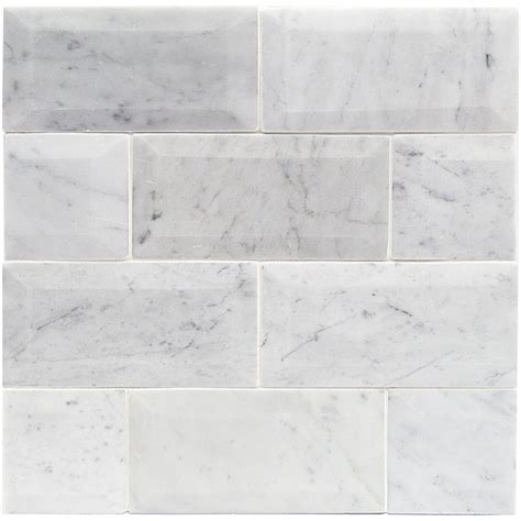 Shop For Speranza Carrara Beveled 3x6 Polished Marble Tile